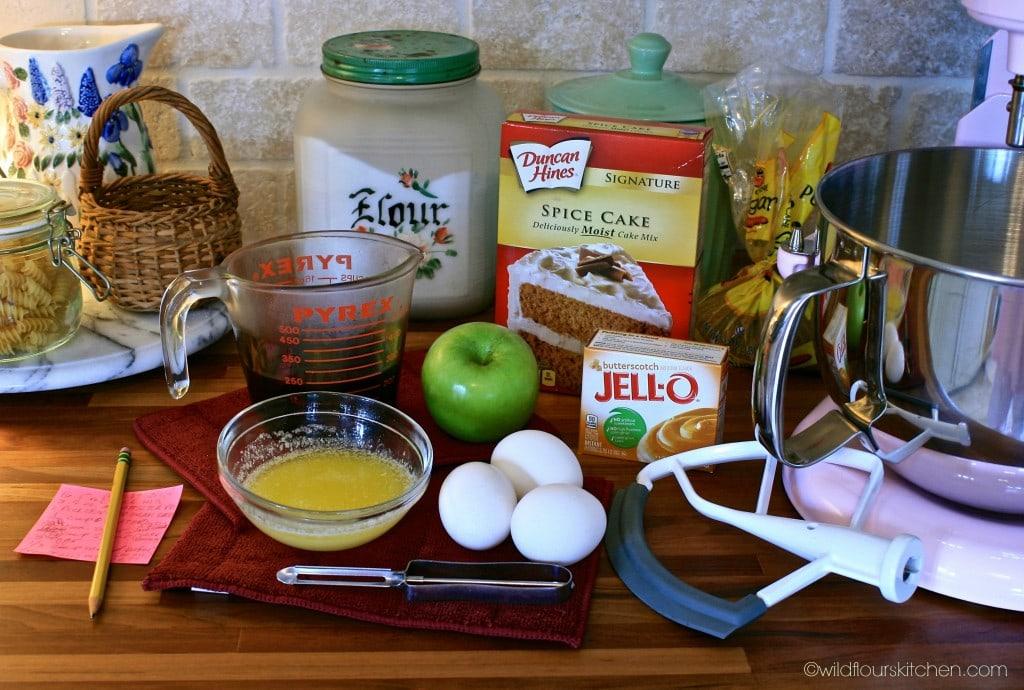 caramel apple cake ingrdnts 2