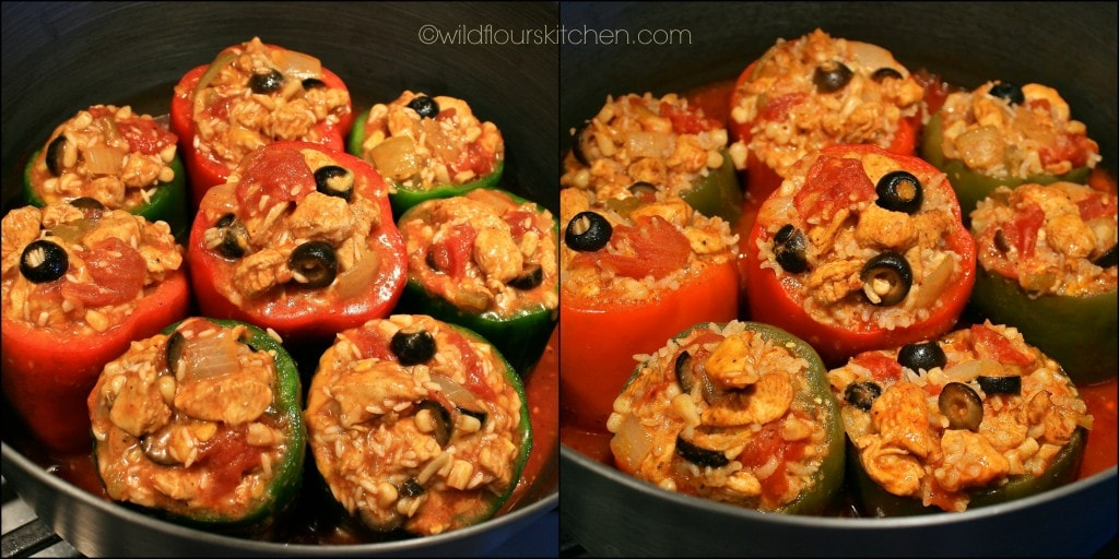 enchilada peppers before & after