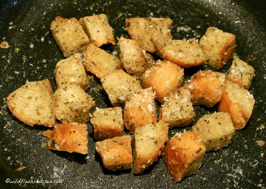 croutons with asiago
