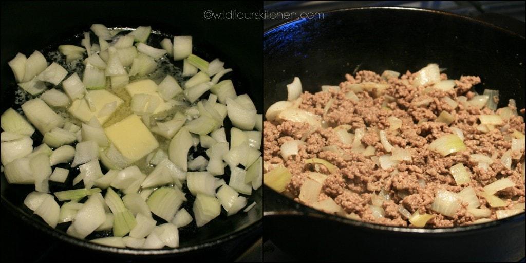 hamburgers & onions