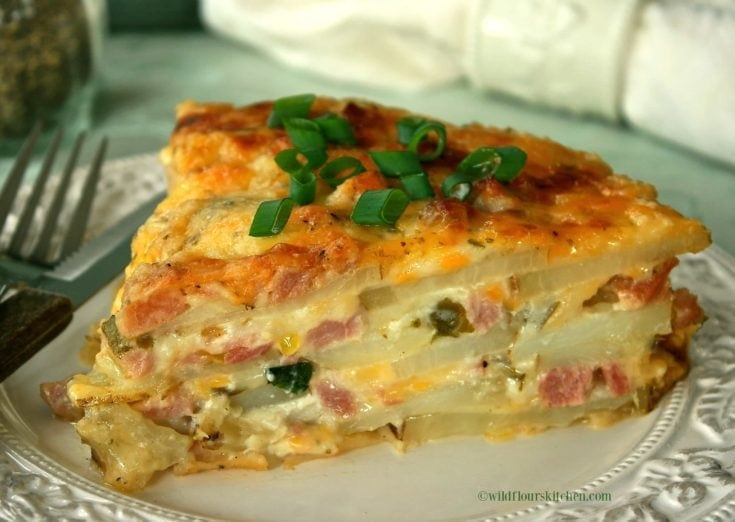Cheesy Scalloped Ham, Canadian Bacon & Potato Casserole