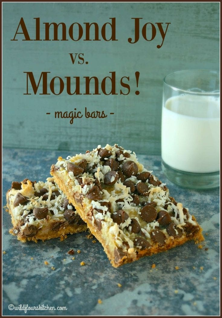 Gooey Chewy Almond Joy vs. Mounds Magic Bars!