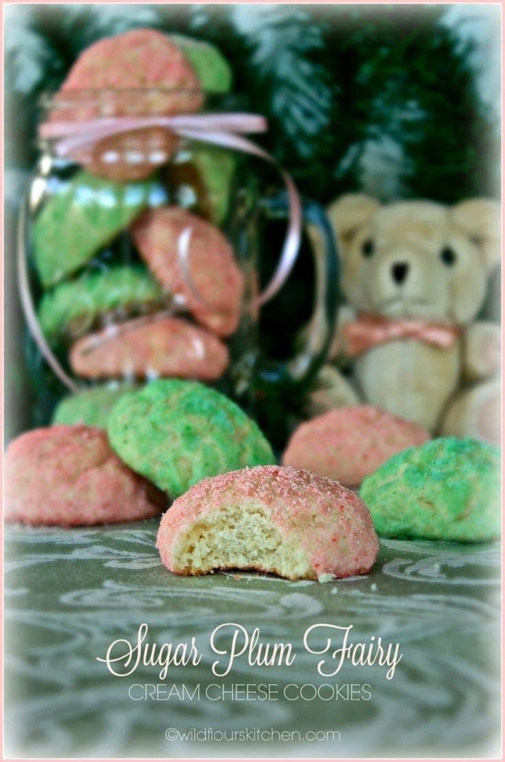 Sugar Plum Fairy Cream Cheese Cookies ~ Freaky Friday Virtual Holiday Cookie Exchange