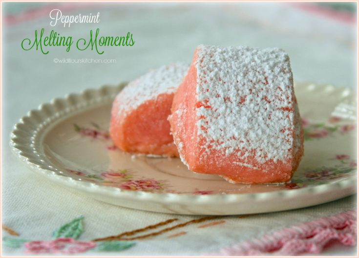 Pink Peppermint Melting Moments