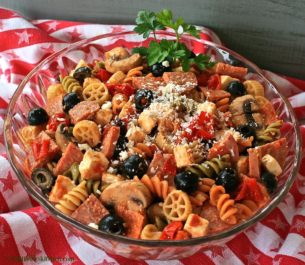 pizza pasta salad bowl