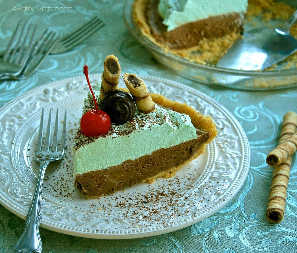 French Silk Choc Mint Pie