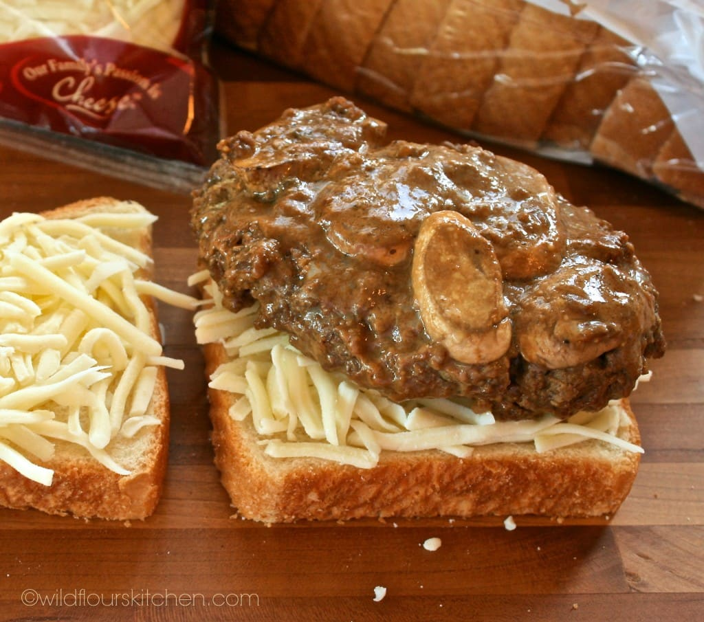 salisbury steak grilled cheese precooked