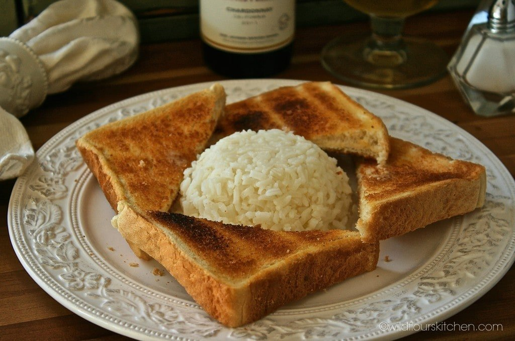 toast points with rice 1