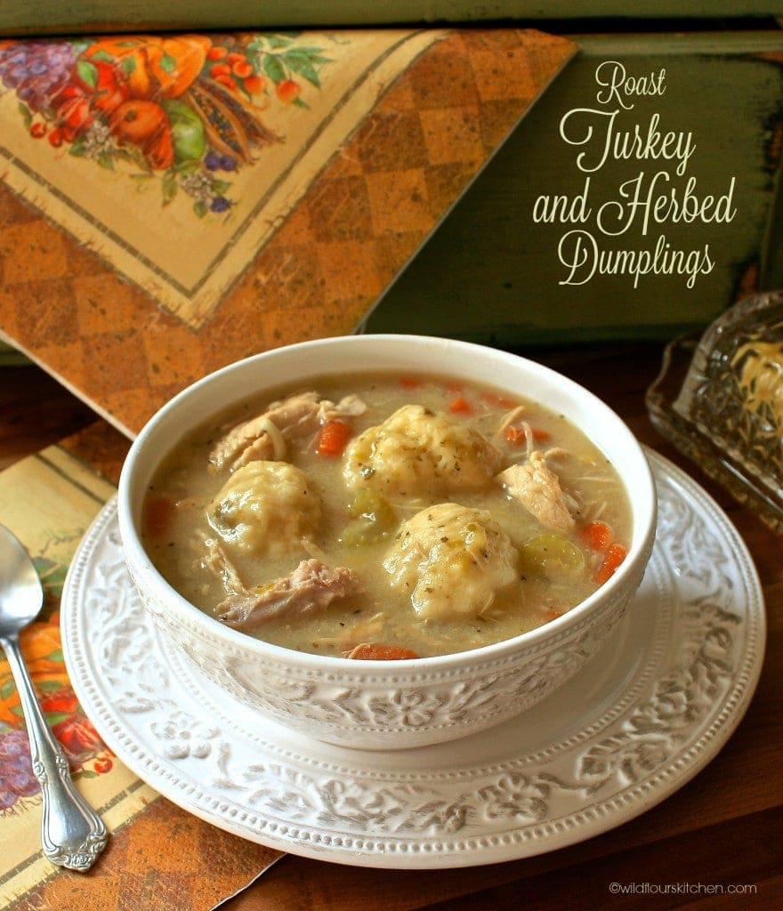 Roast Turkey & Herbed Dumpling Stew (Or Chicken) - Wildflour's Cottag...