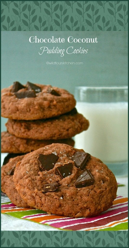 Chocolate Coconut Pudding Cookies!
