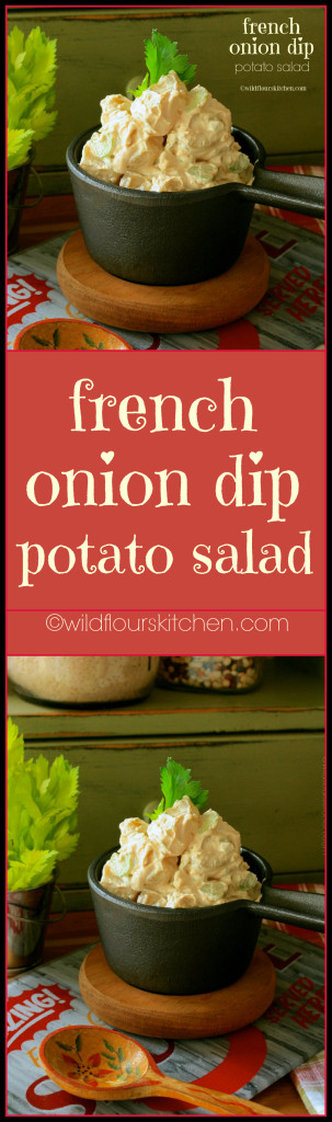 French Onion Dip Potato Salad!
