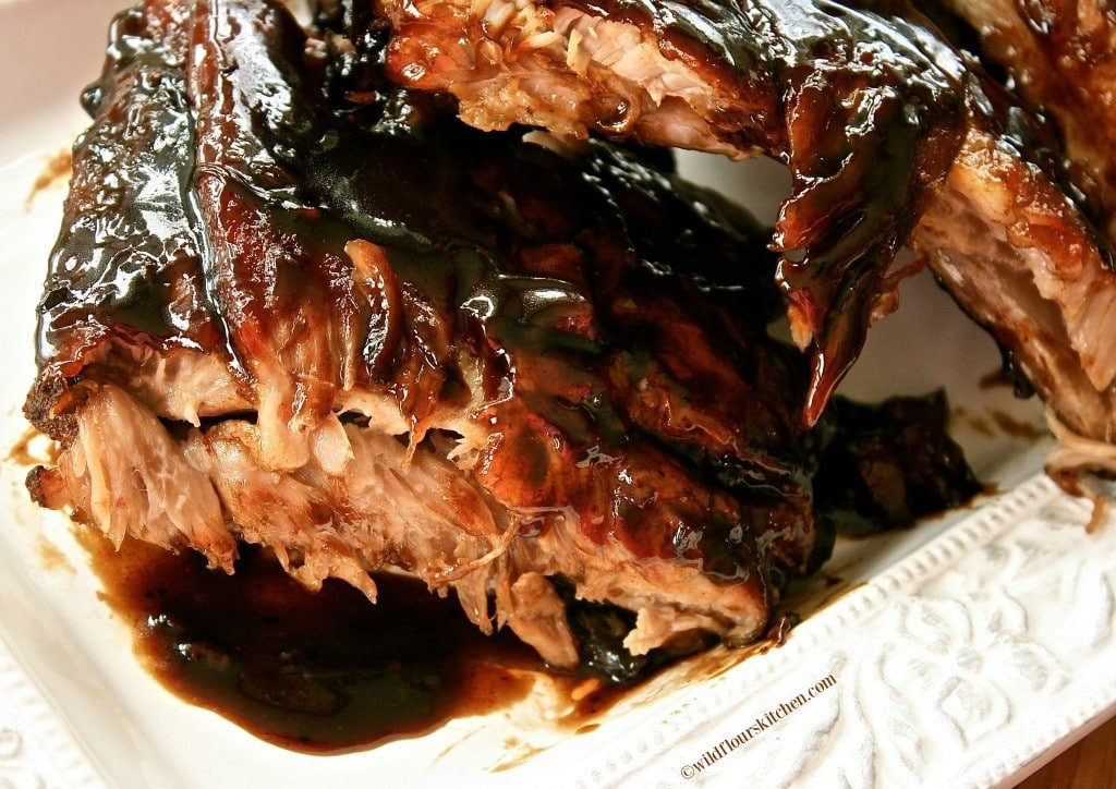 balsamic espresso ribs closeup