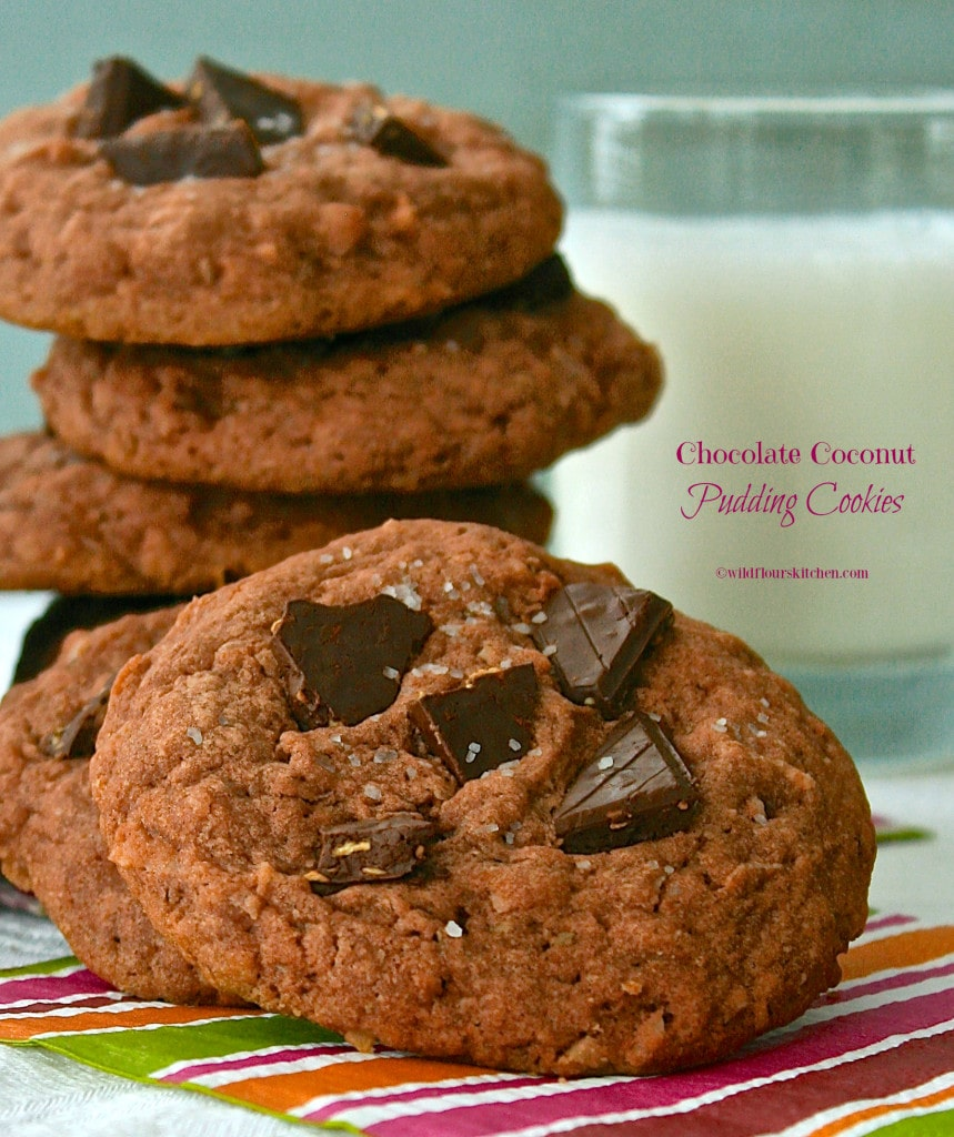chocolate coconut pudding cookies 2