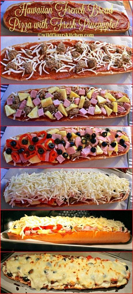 hawaiian pizza collage 2