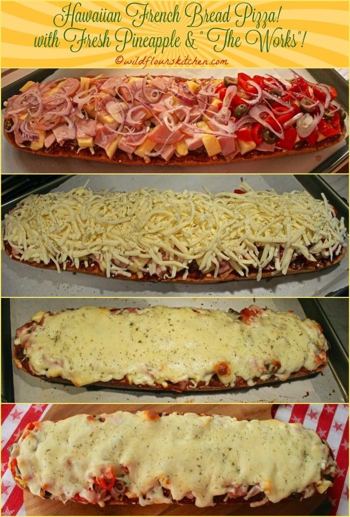 hawaiian pizza collage 3