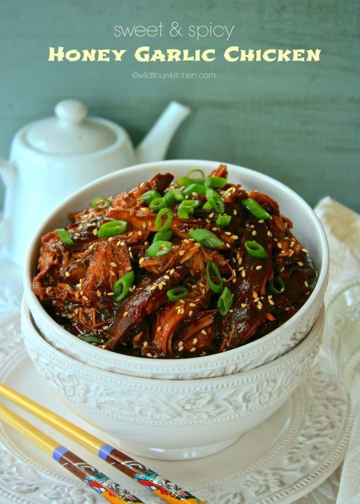 Slow Cooker Asian Sweet & Spicy Honey Garlic Chicken