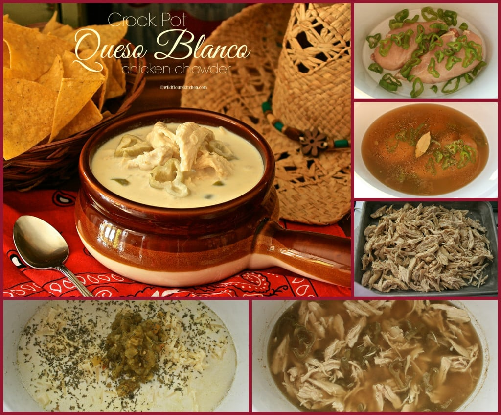 queso blanco chowder collage