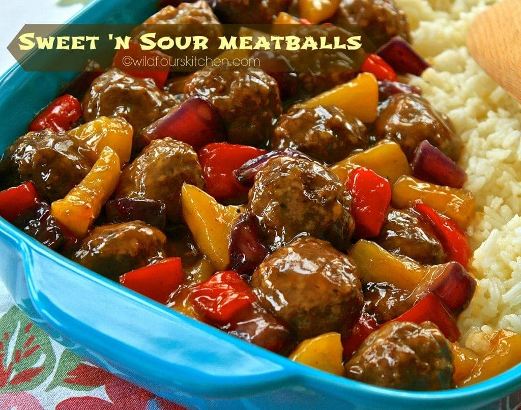sweet n sour meatballs