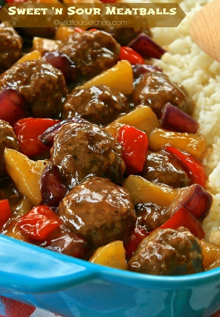 sweet n sour meatballs to pin