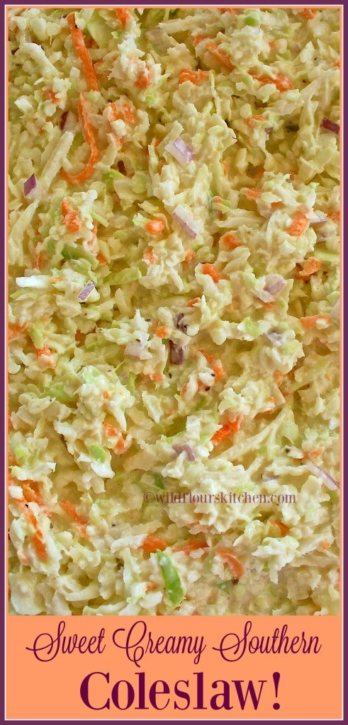 Sweet Creamy Southern Coleslaw!