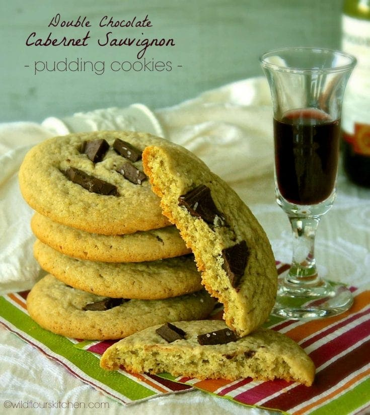 Double Chocolate Cabernet Pudding Cookies