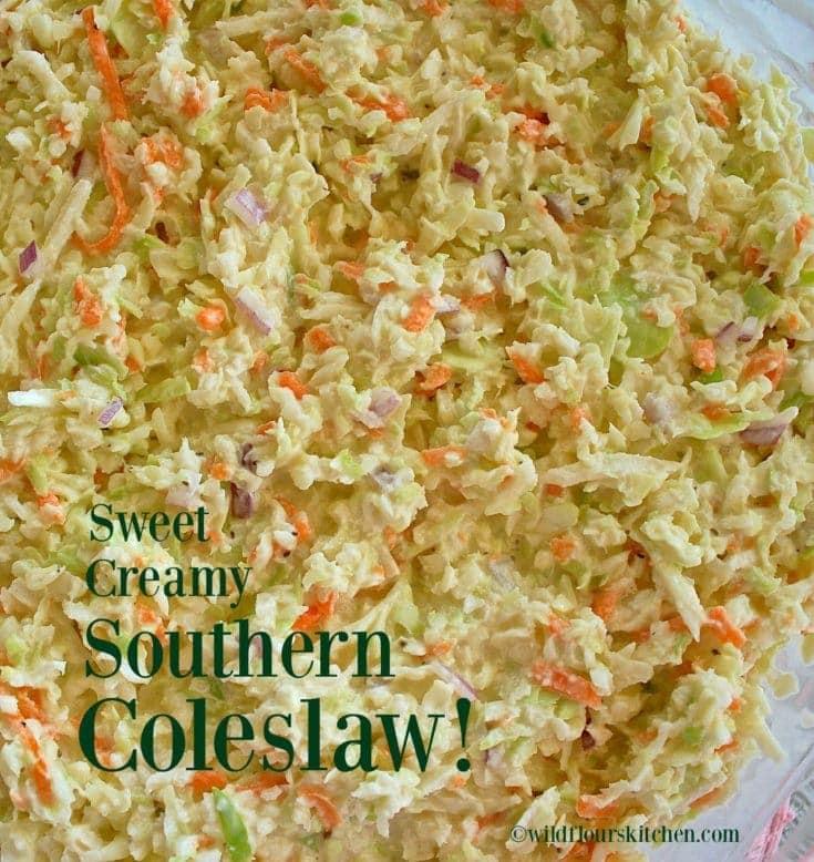 Sweet Creamy Southern Cole Slaw!