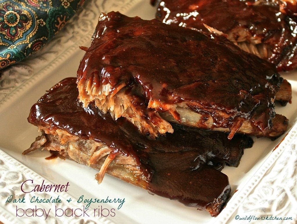 Cabernet, Dark Chocolate & Boysenberry Baby Back Ribs!