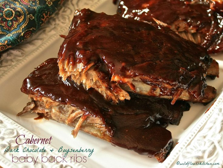 Cabernet Dark Chocolate & Boysenberry Baby Back Ribs