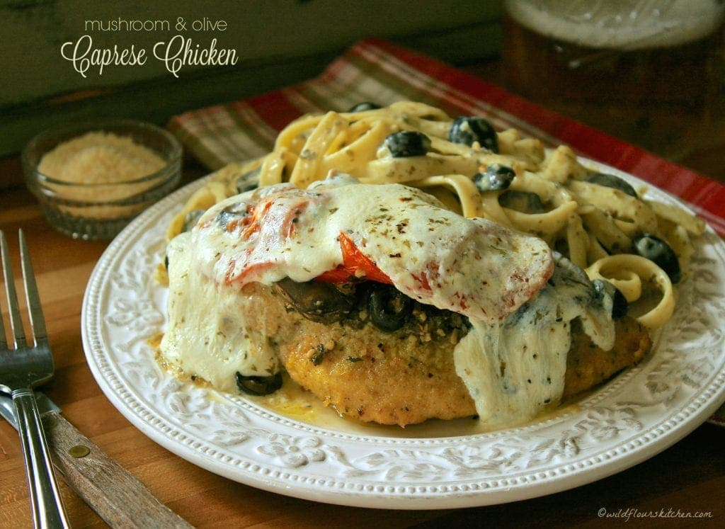 Mushroom & Olive Caprese Chicken!