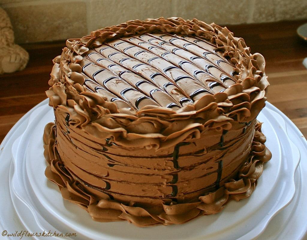 triple choc espress cake