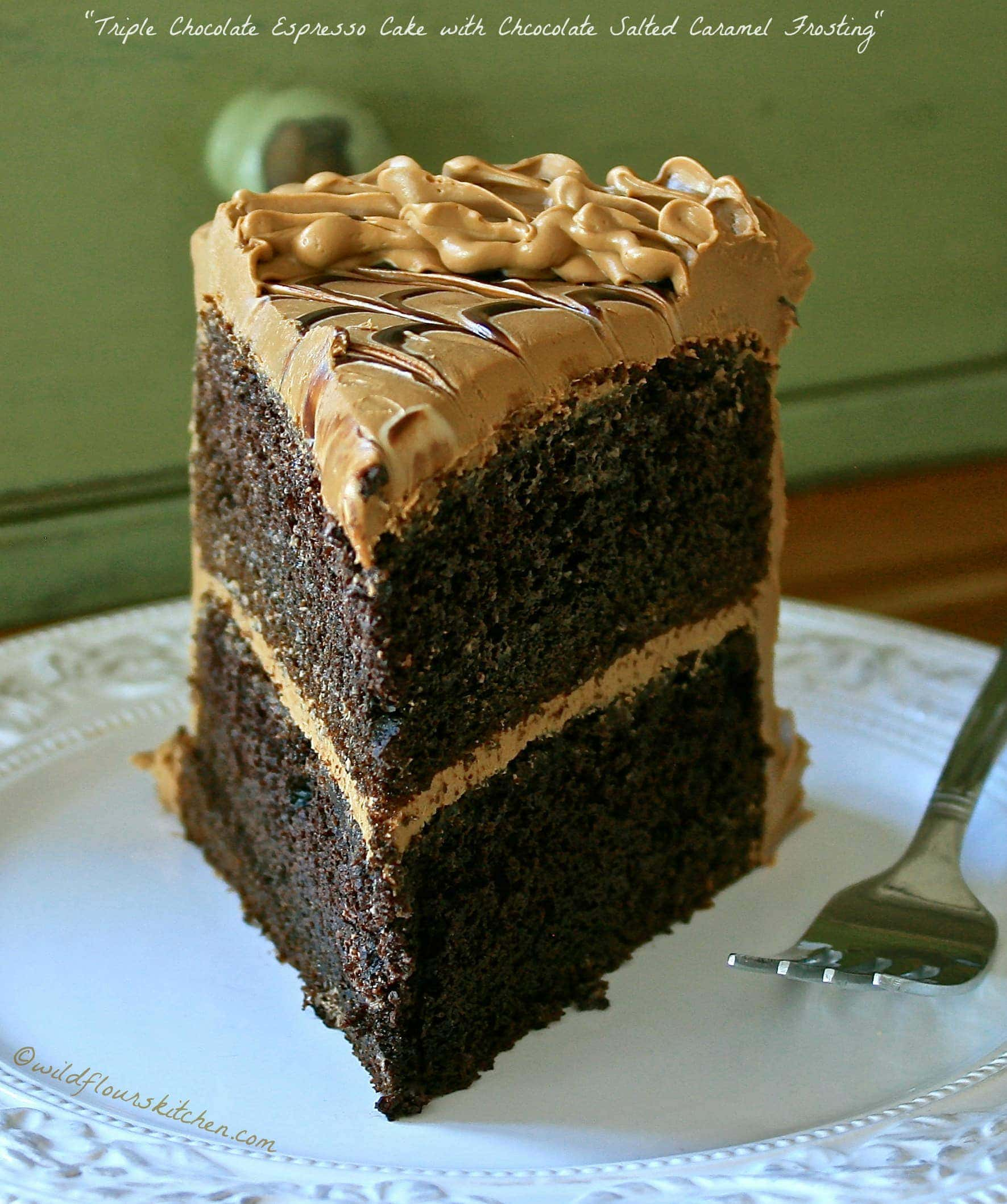 Triple Chocolate Espresso Cake with Chocolate Salted Caramel ...