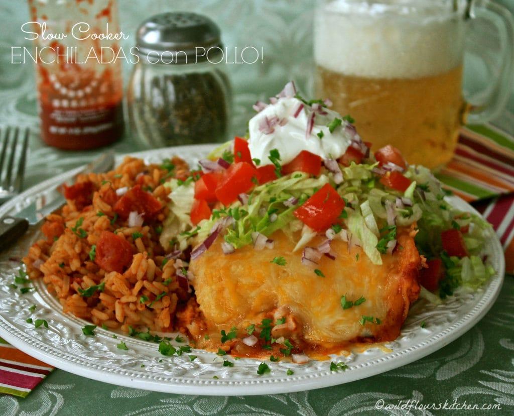 Enchiladas con Pollo!