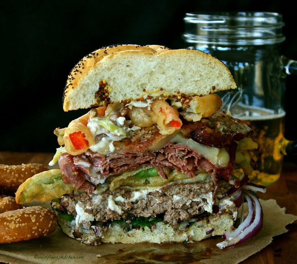 Farmer's Market Burger inside!