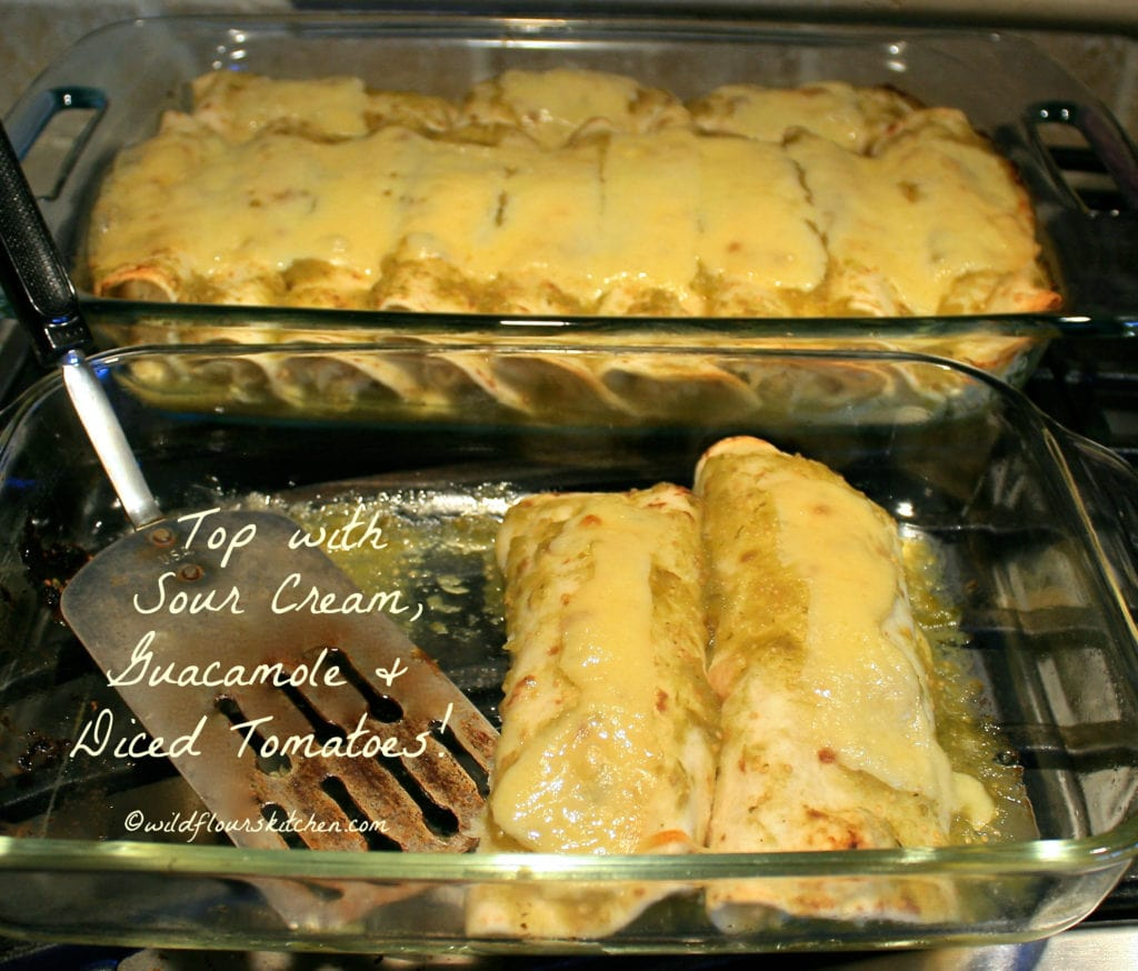 enchiladas suizas verde ready to top
