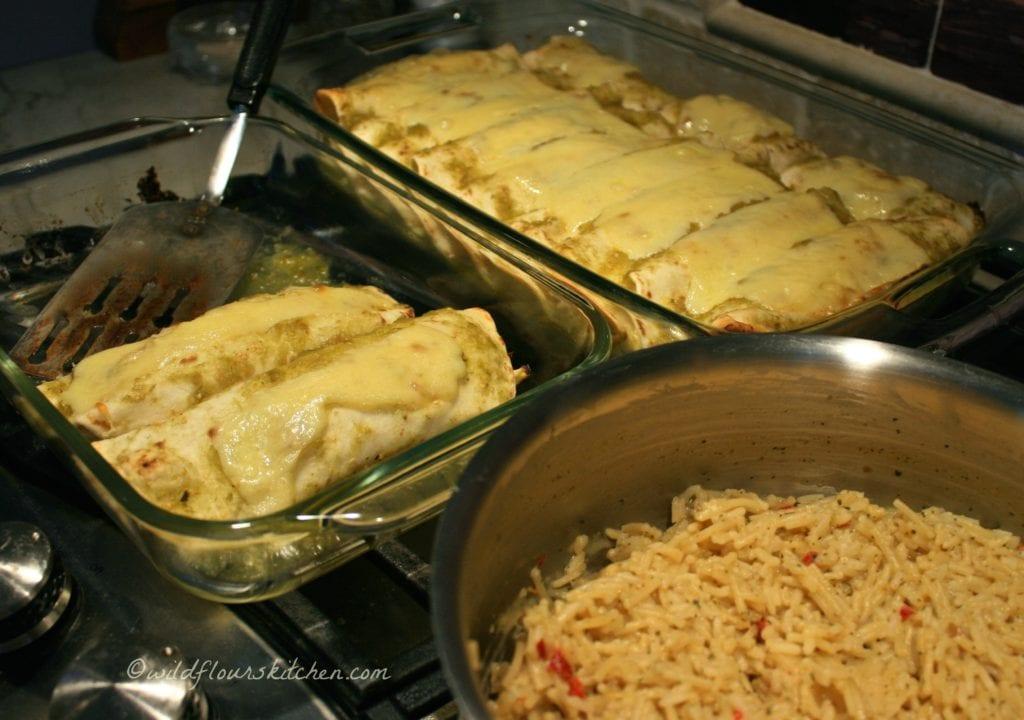 enchiladas suizas verde serving