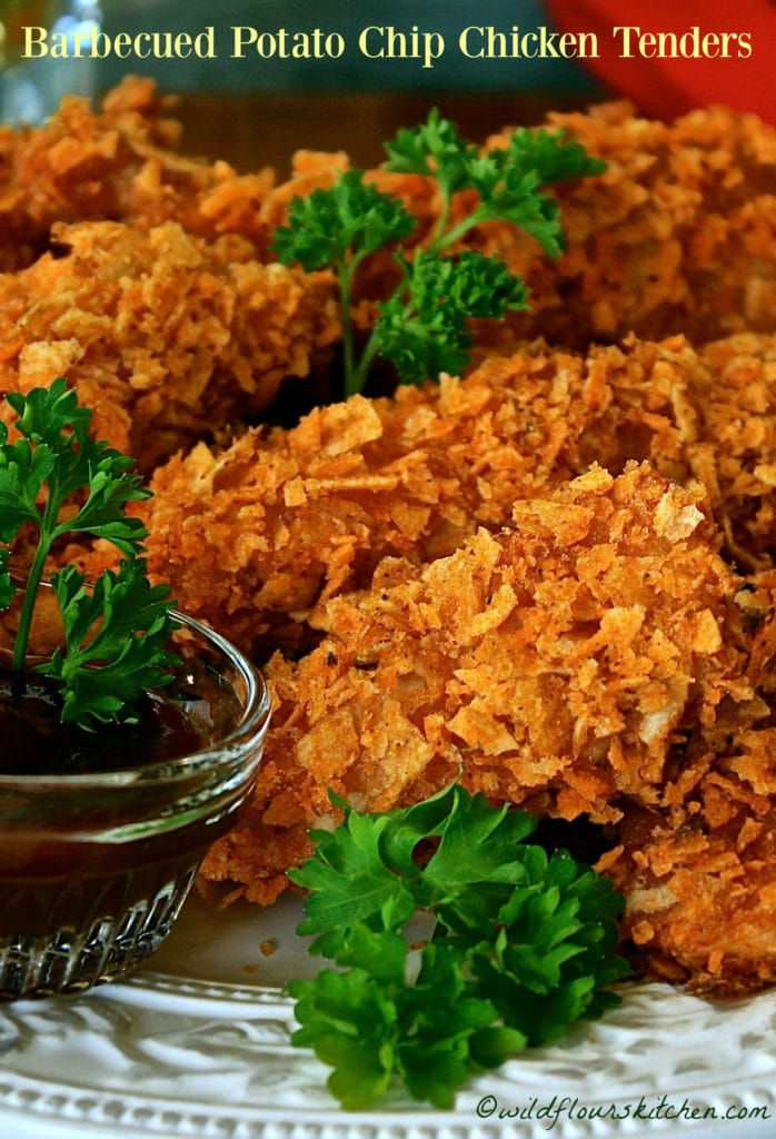 Barbecued Potato Chip Chicken Tenders!