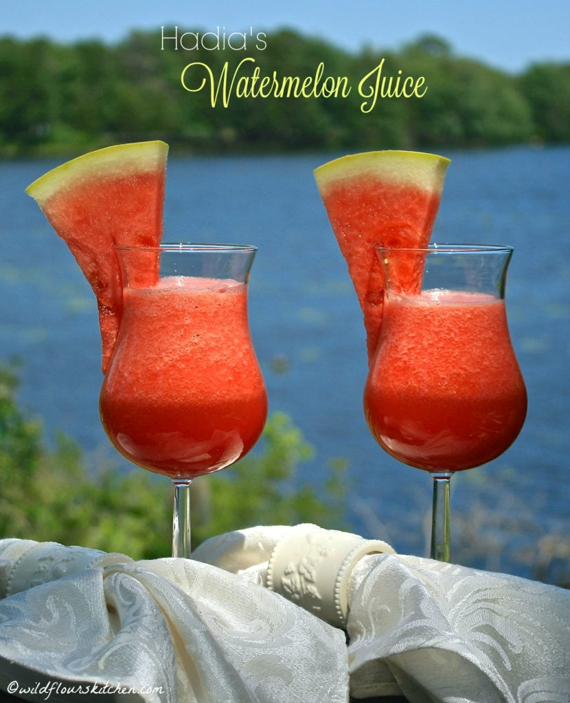 Hadia's Watermelon juice