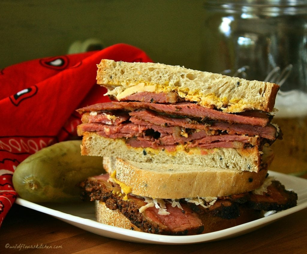 Homemade Pastrami on Rye!