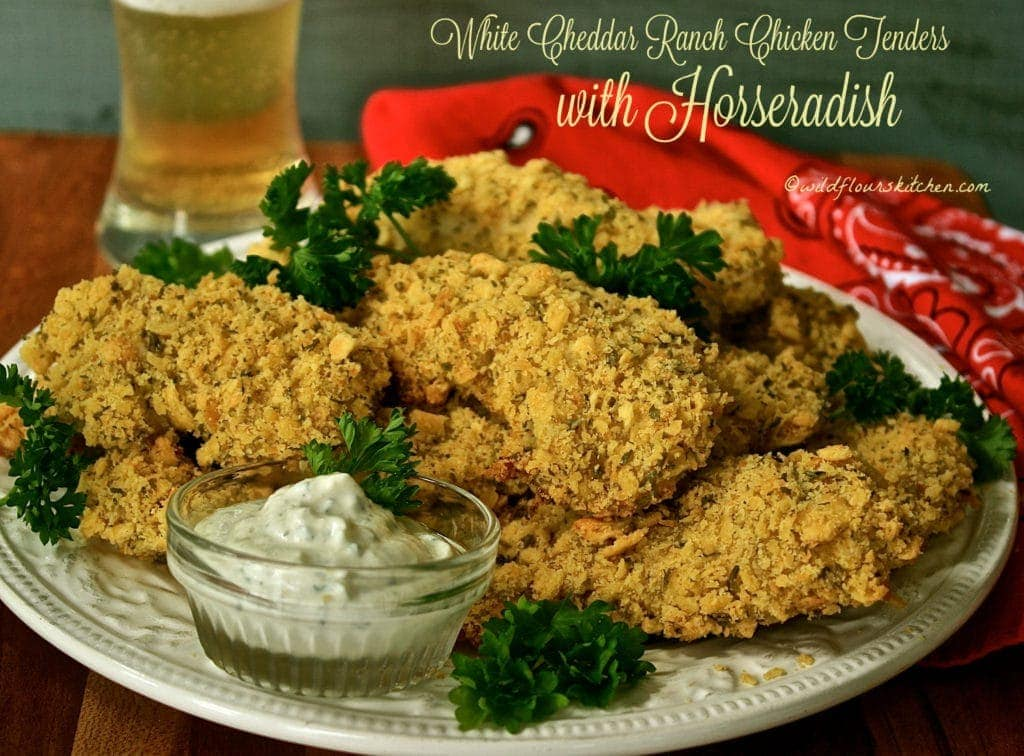 White Cheddar Ranch Chicken Tenders with Horseradish!