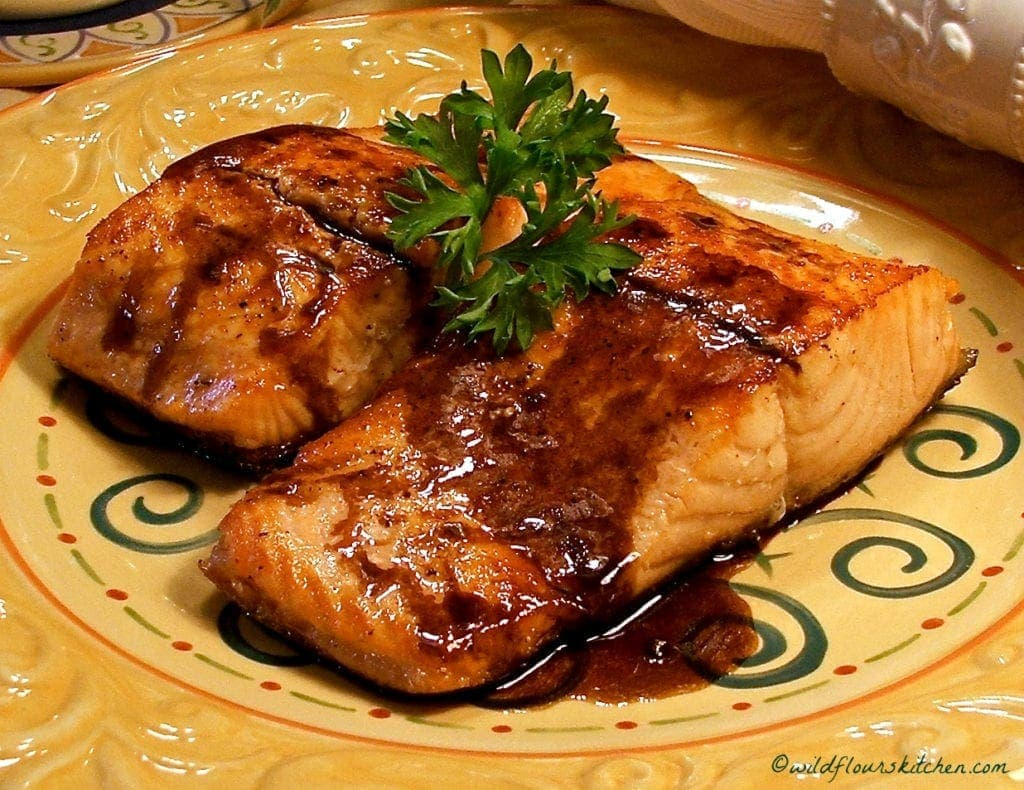 Balsamic Glazed Seared Salmon
