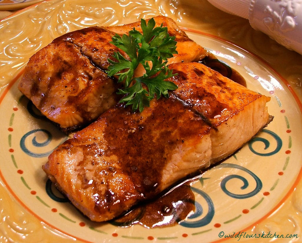 Glazed Balsamic Seared Salmon