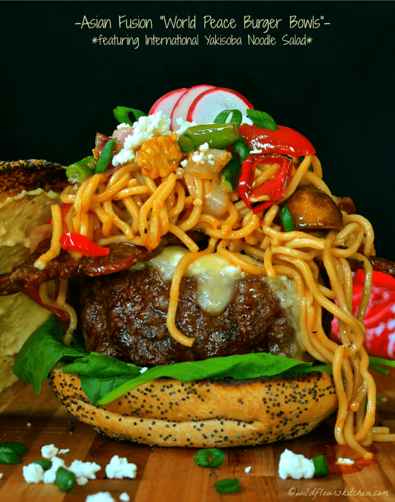 International Yakisoba Noodle Salad Burger!