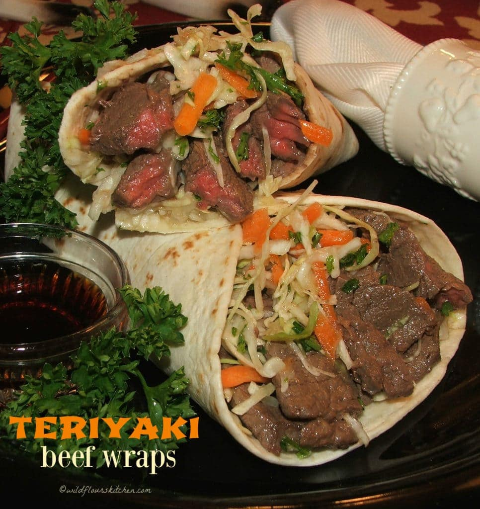 Teriyaki Beef Wraps!