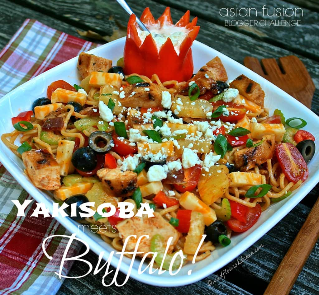 Yakisoba Buffalo Chicken Noodle Salad!