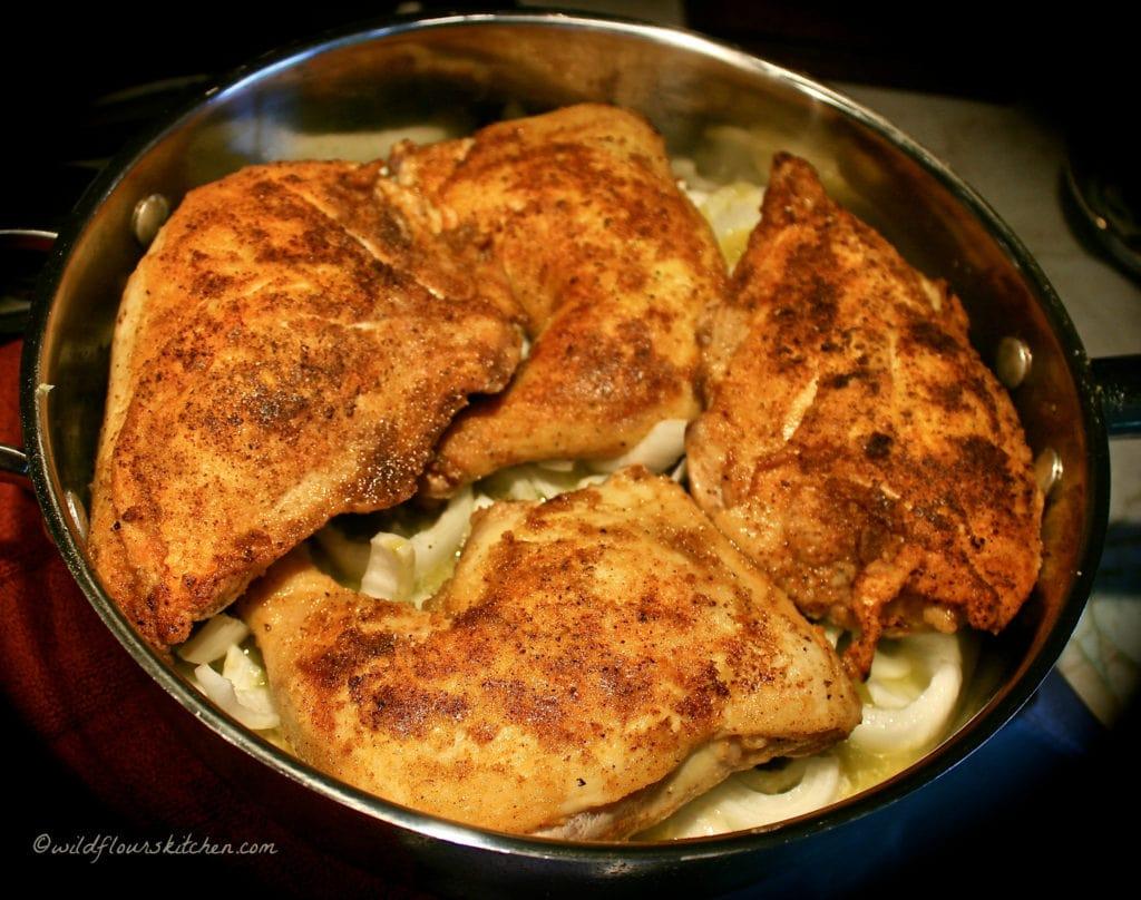 chicken verde browned