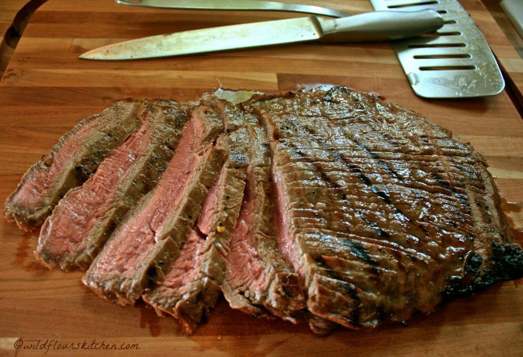 flank steak sliced