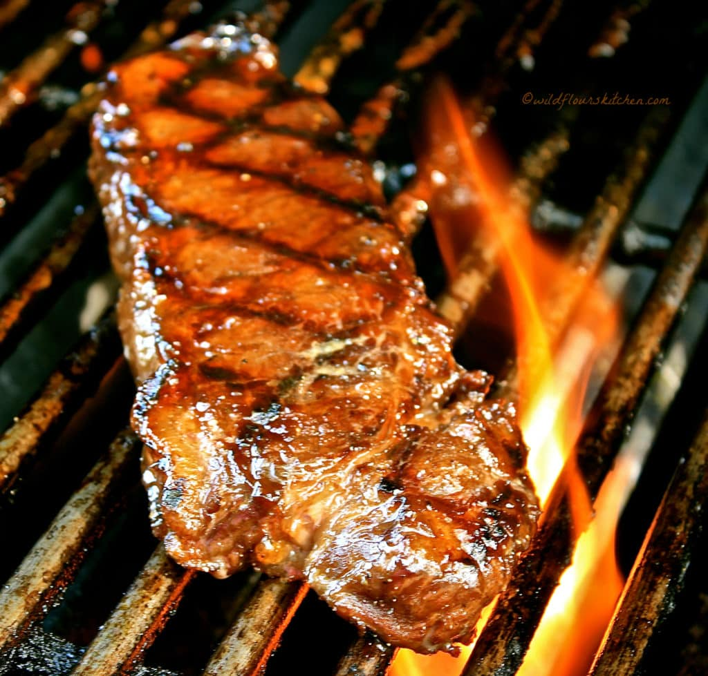garlic balsamic dk brown sugar steaks