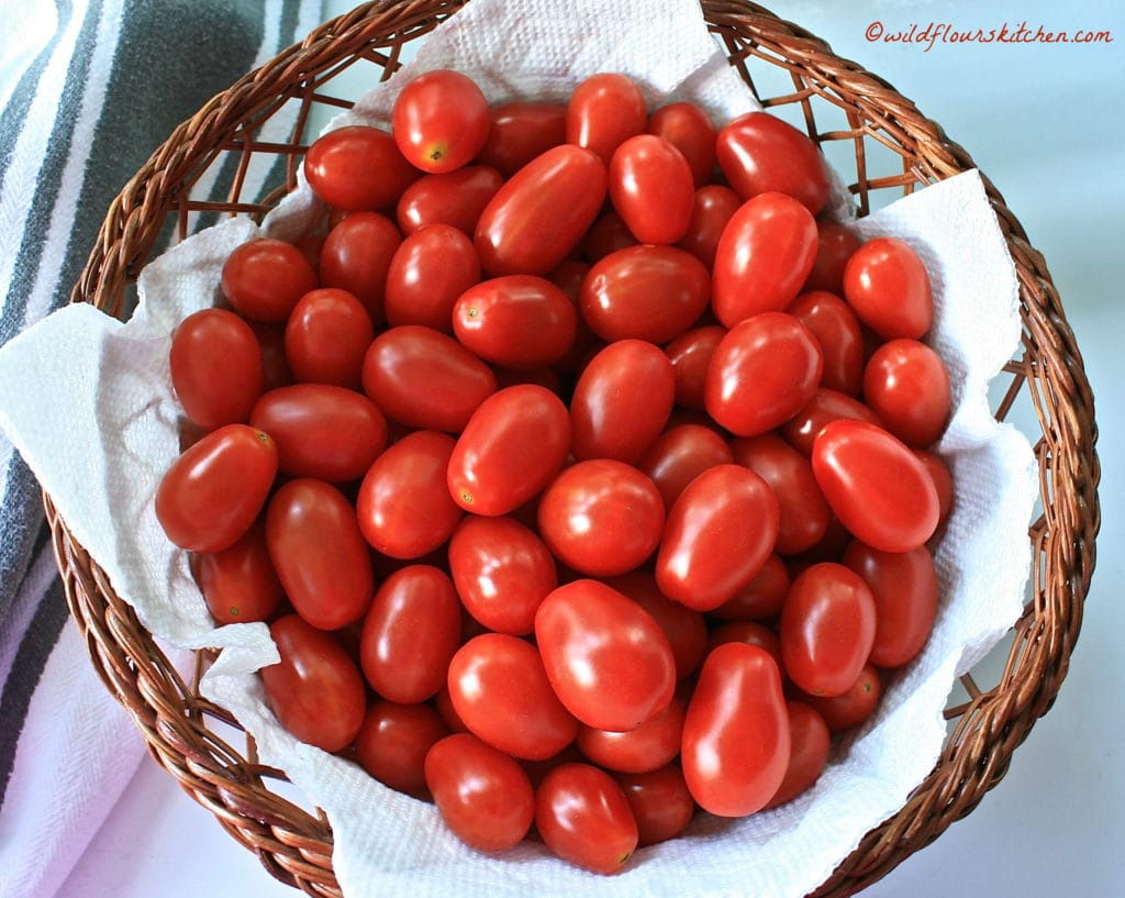 grape tomatoes from my garden