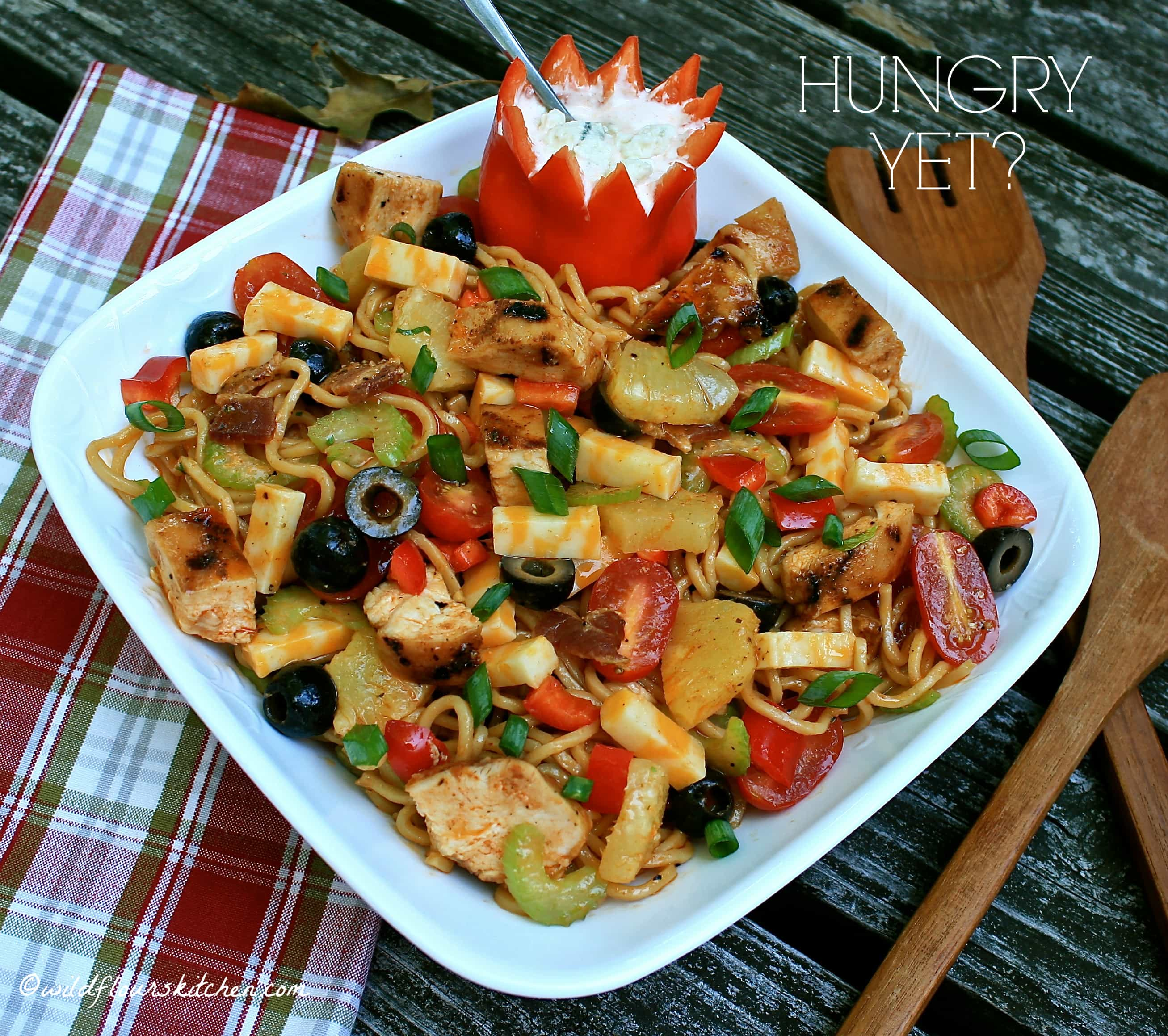 Spicy Grilled Chicken Salad With Noodles Recipe — Dishmaps