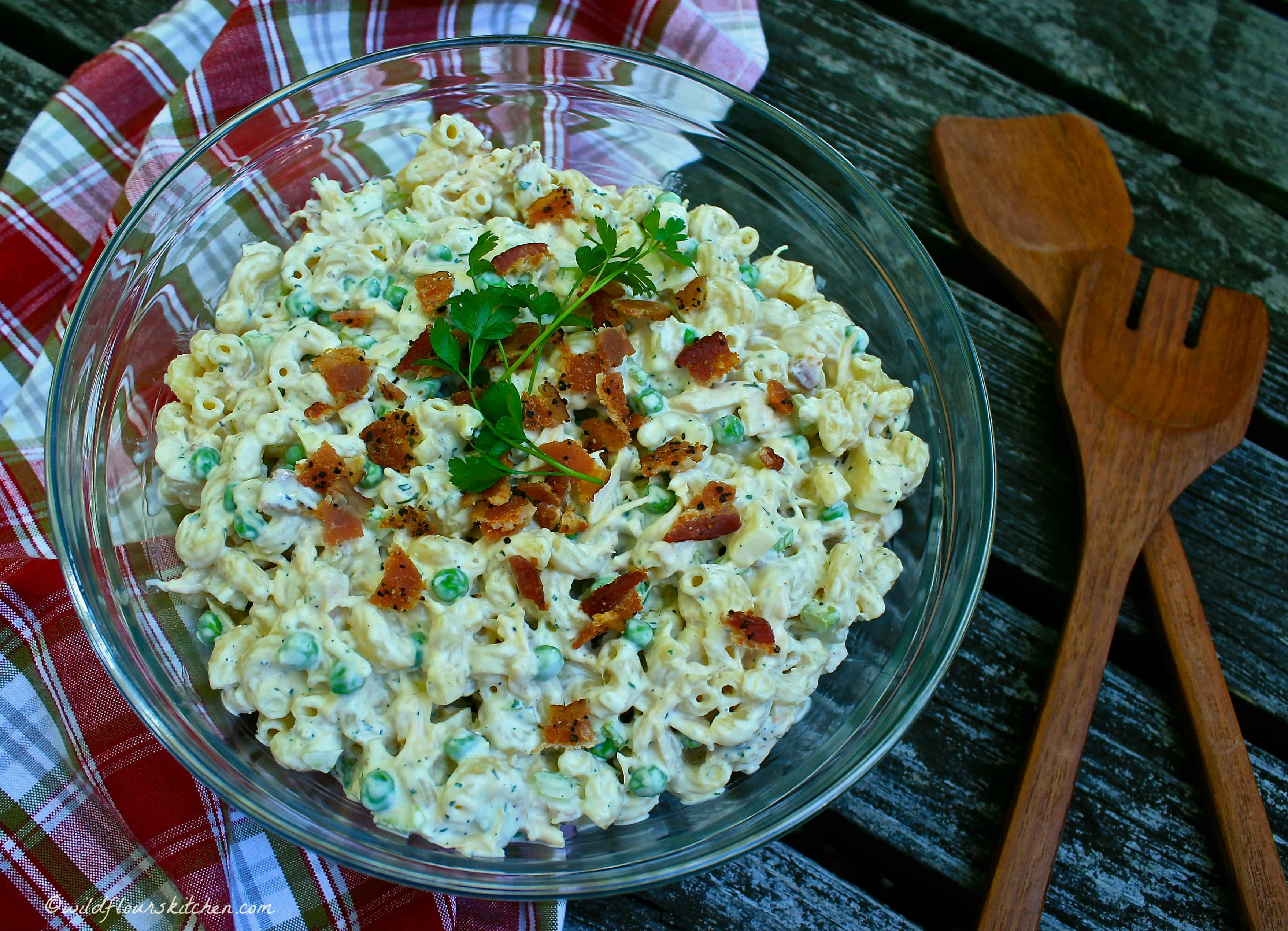 bacon white cheddar ranch chicken macaroni salad the. Black Bedroom Furniture Sets. Home Design Ideas